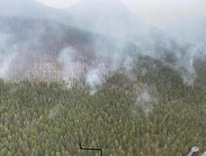 Crown Mountain fire now listed at 1,301 acres