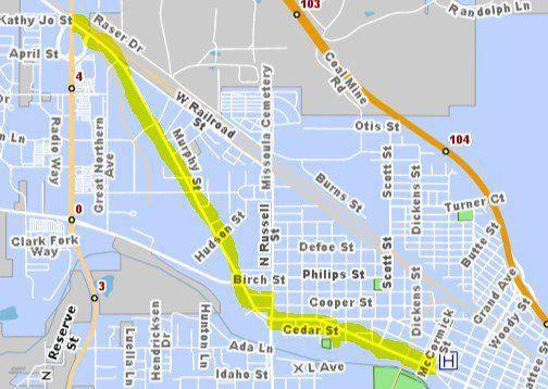 Palmer procession route