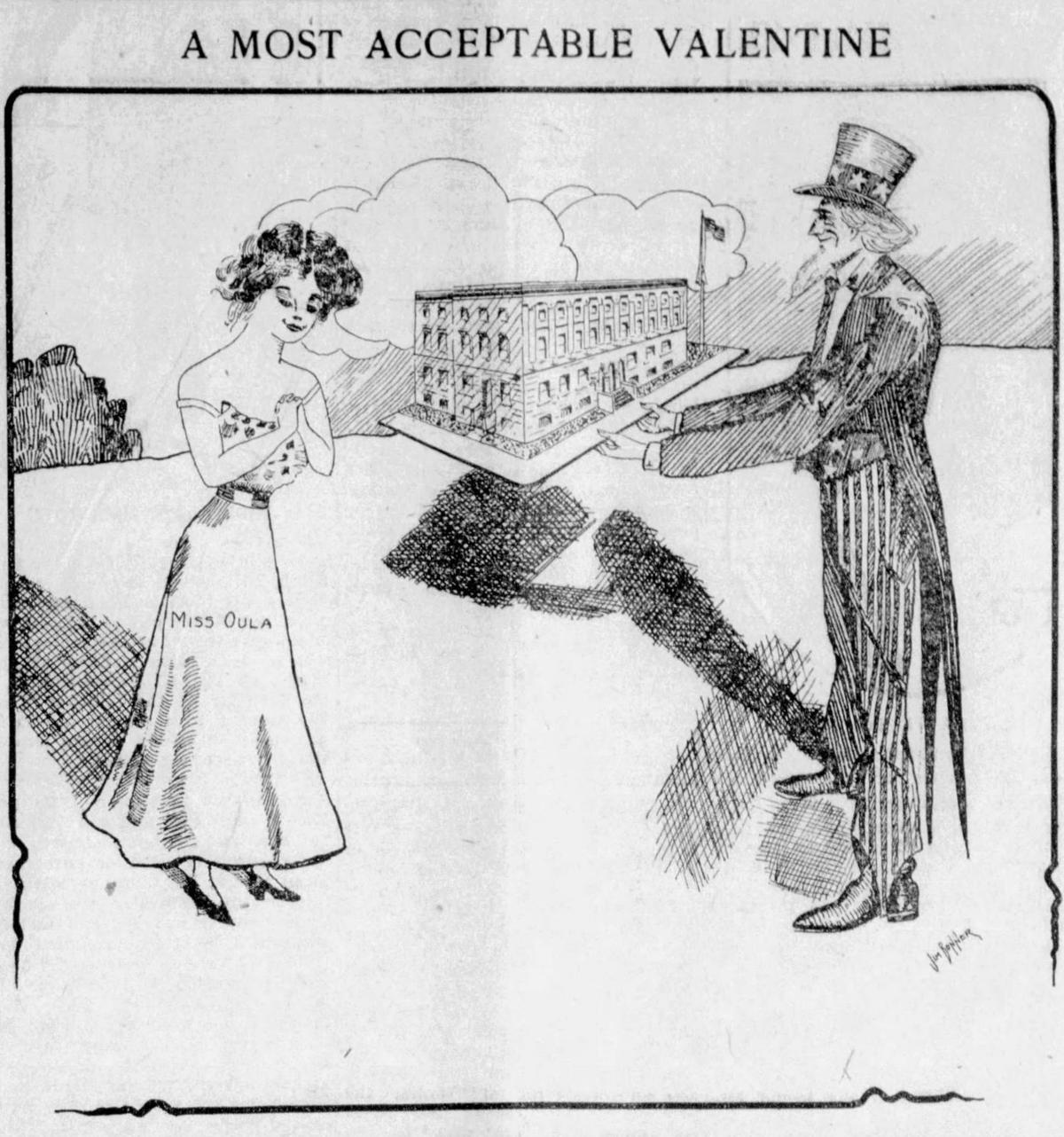 Federal Building cartoon Feb. 16, 1913