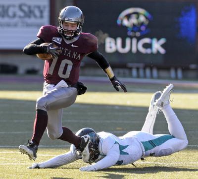 Montana quarterback Jordan Johnson