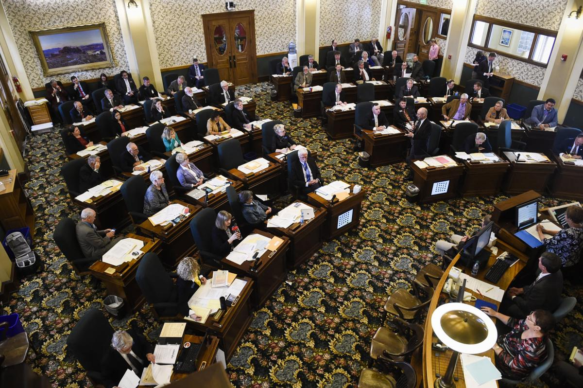 The full Montana state senate convenes in the senate chamber of the State Capitol, Tuesday morning during the second day of the special legislative session.