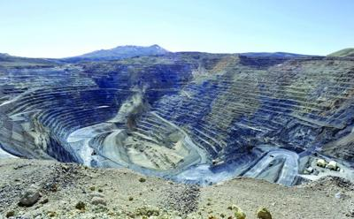 Newmont Gold Quarry pit in Battle Mountain, Nev.