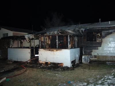 The damage caused by a turkey fryer fire