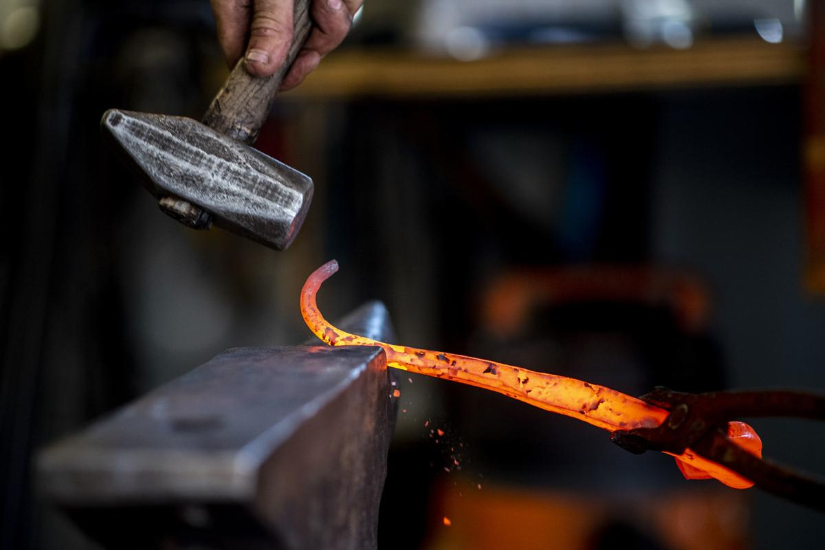 Backyard blacksmithing': Metalwork artists thriving in