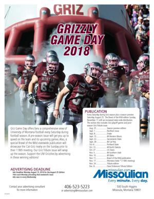 Greetings and GO GRIZ!