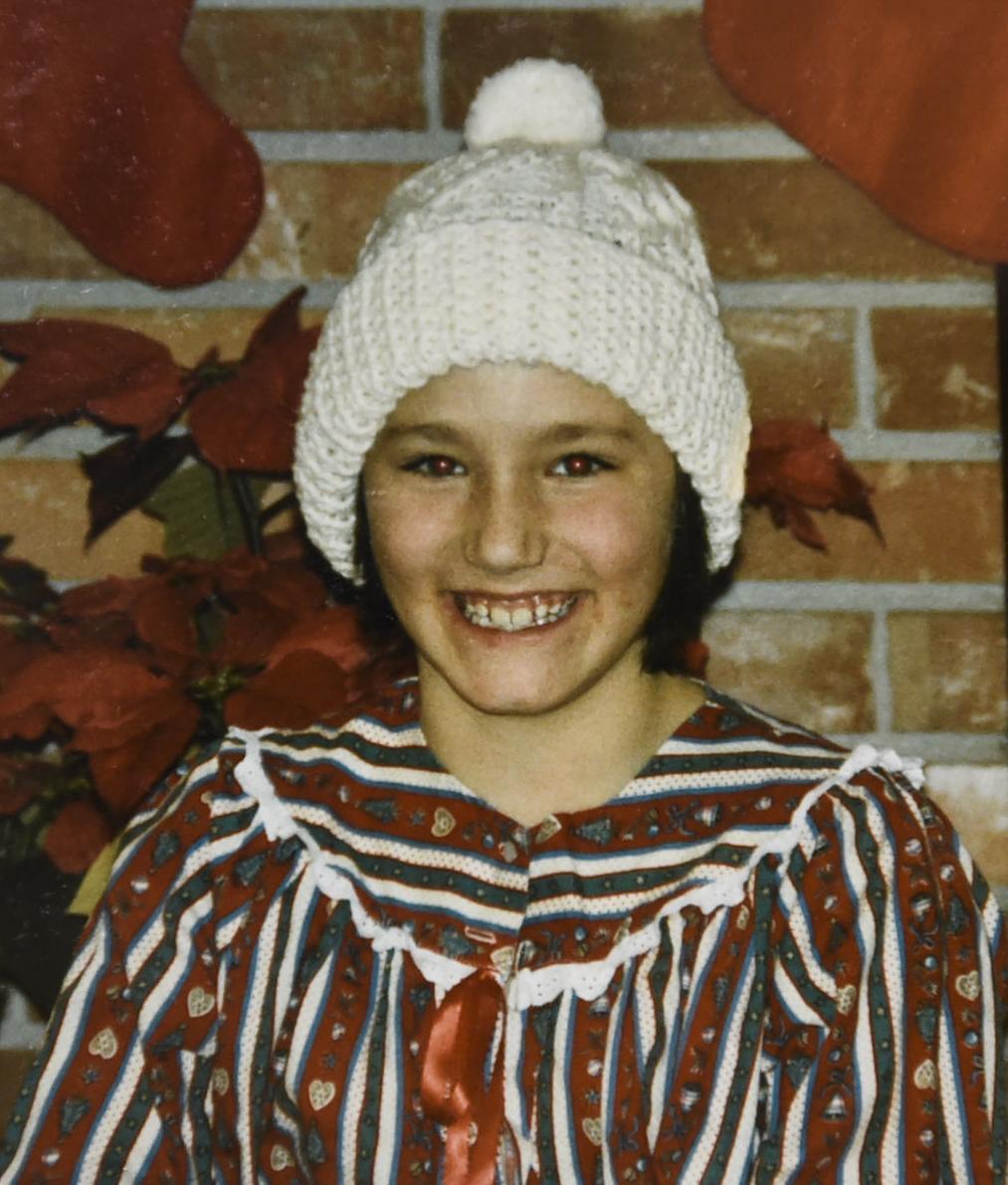 Linda Glantz on Christmas Day in 1986