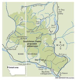 Scotchman Peaks map