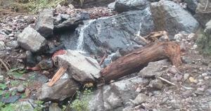 Monture Trail impassable to stock after debris flow