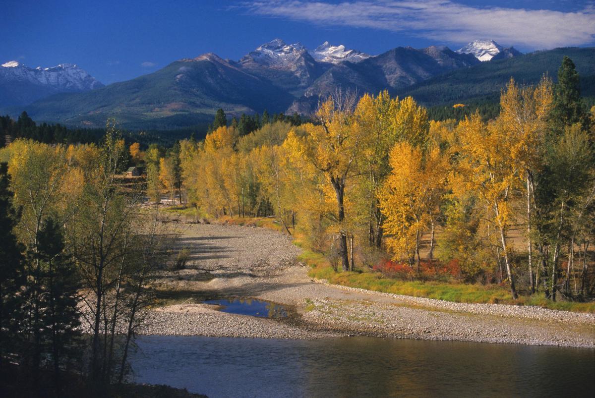 Bitterroot River below Como Peaks