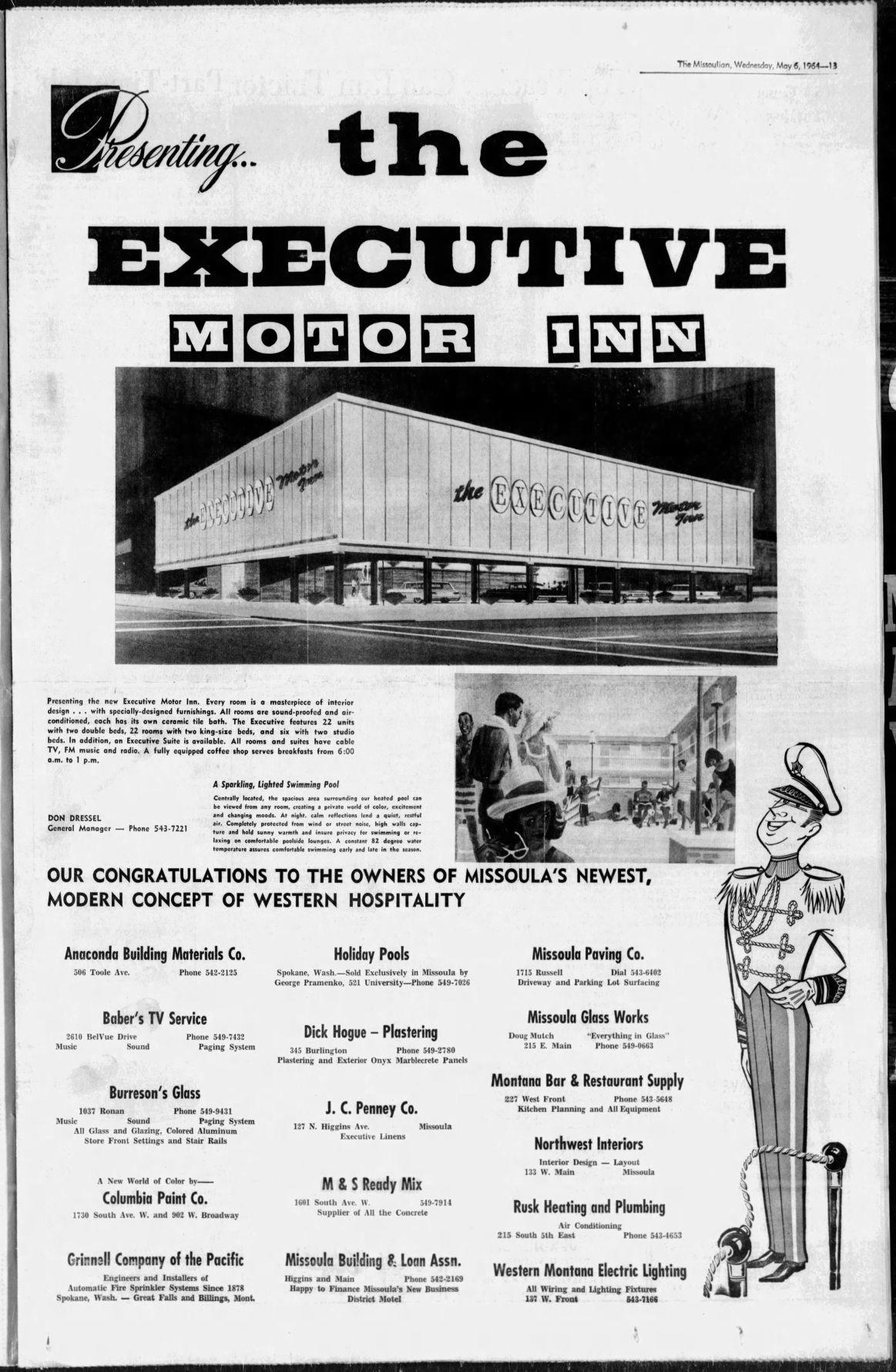 Executive motor inn May 6, 1964