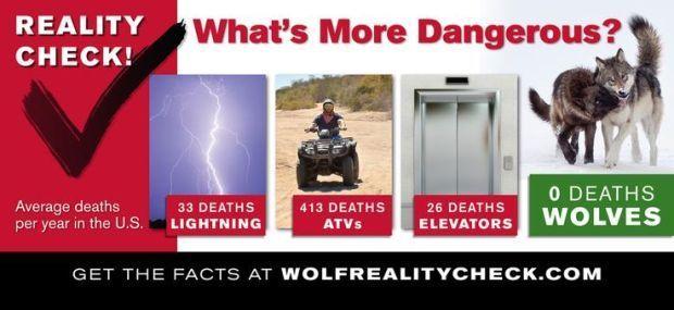 pro-wolf billboard campaign