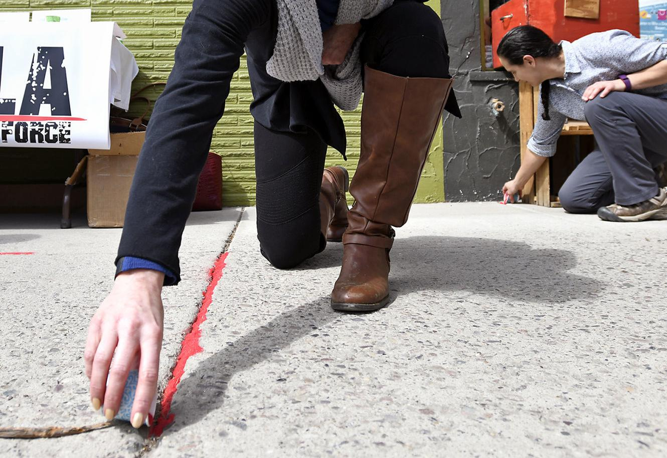 Red Sand Project along Hip Strip draws attention to human trafficking victims