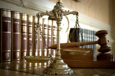 justice court courtroom law stockimage