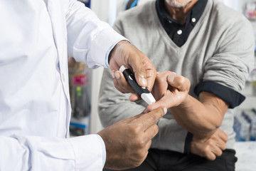 Senior health test stock