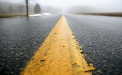wet road car accident stockimage