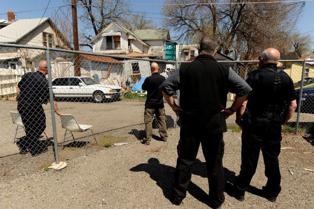 Billings police search a house