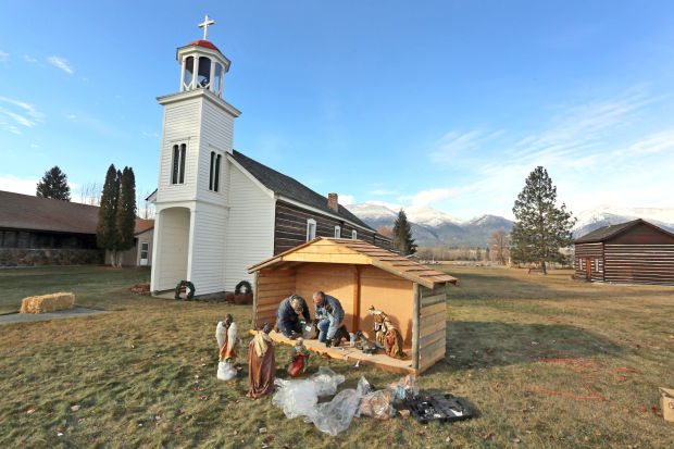 New outdoor nativity scene highlights St. Mary's Mission annual ...