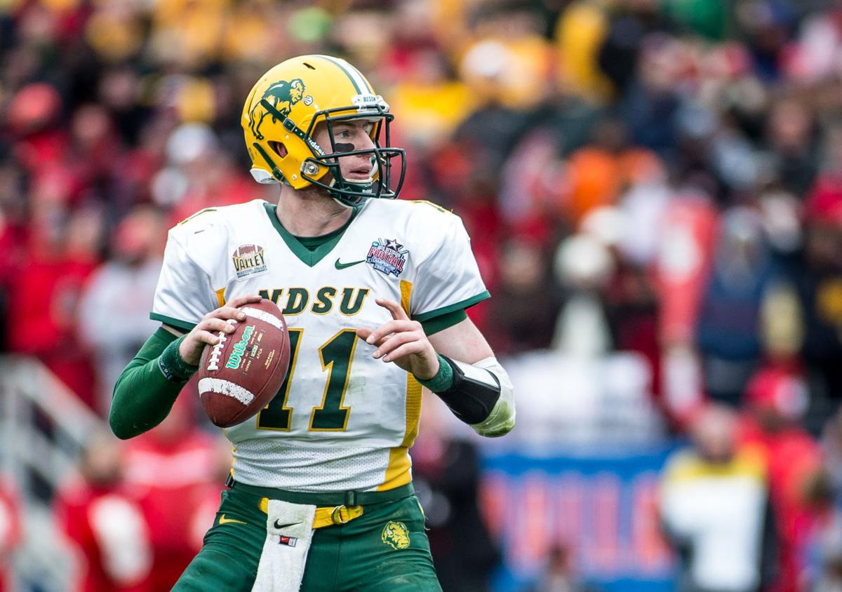 premium selection d9986 588c5 NDSU QB Wentz shining after emerging from shadows | Local ...