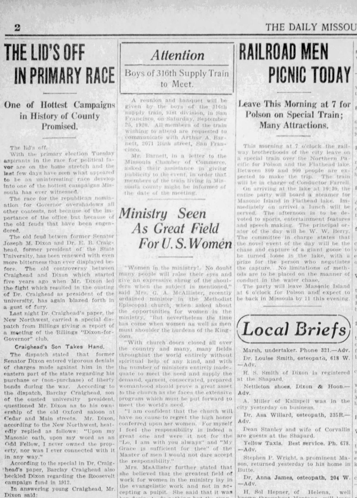 Dixon-Craighead Aug. 22, 1920