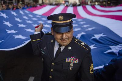 APTOPIX Veterans Day New York