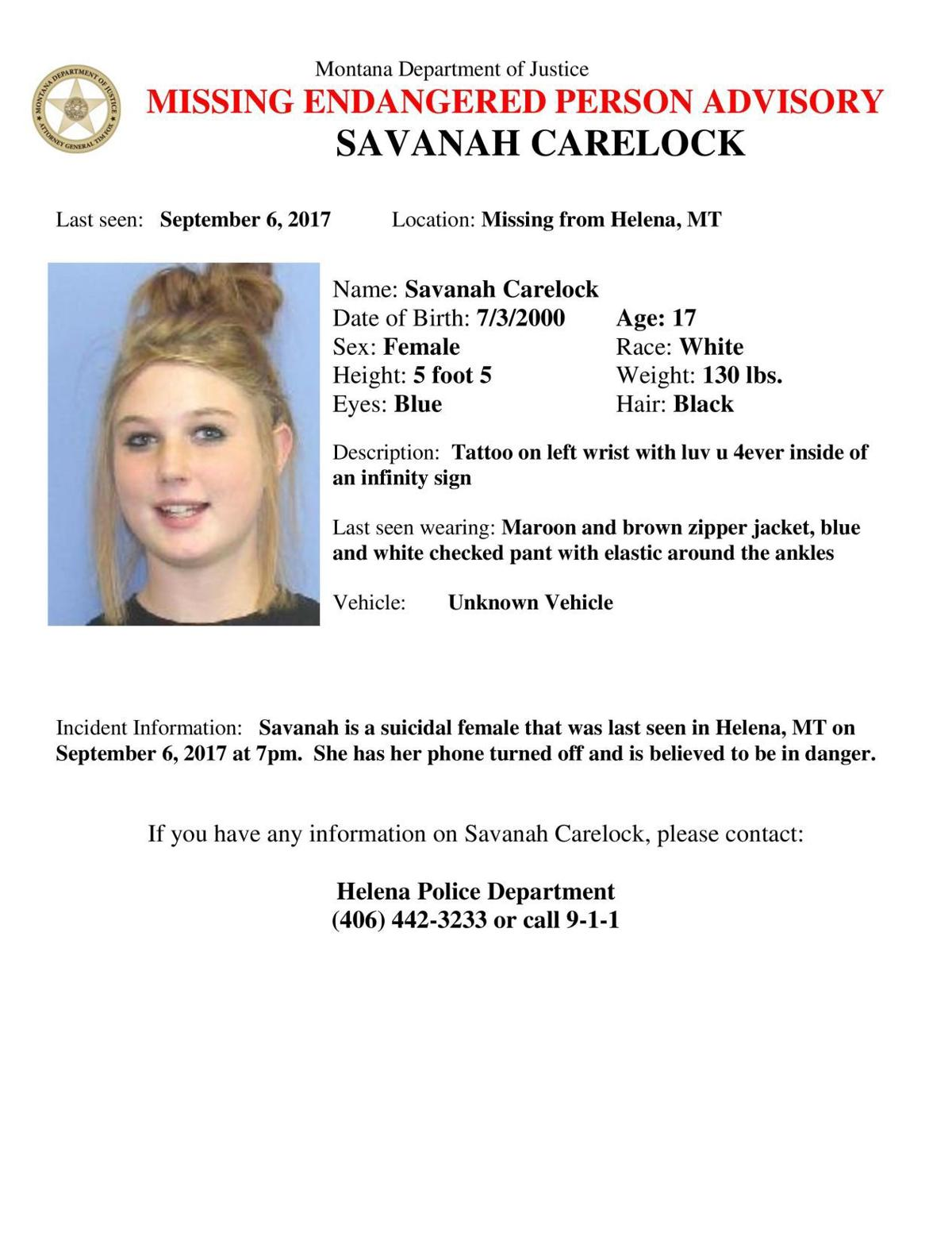 Authorities searching for missing Helena teen – Missoulian Birth Announcements