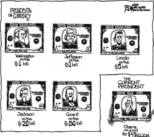 CARTOON: Different presidents grace different monetary