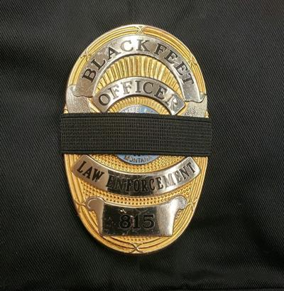 Blackfeet Law Enforcement Services mourning band
