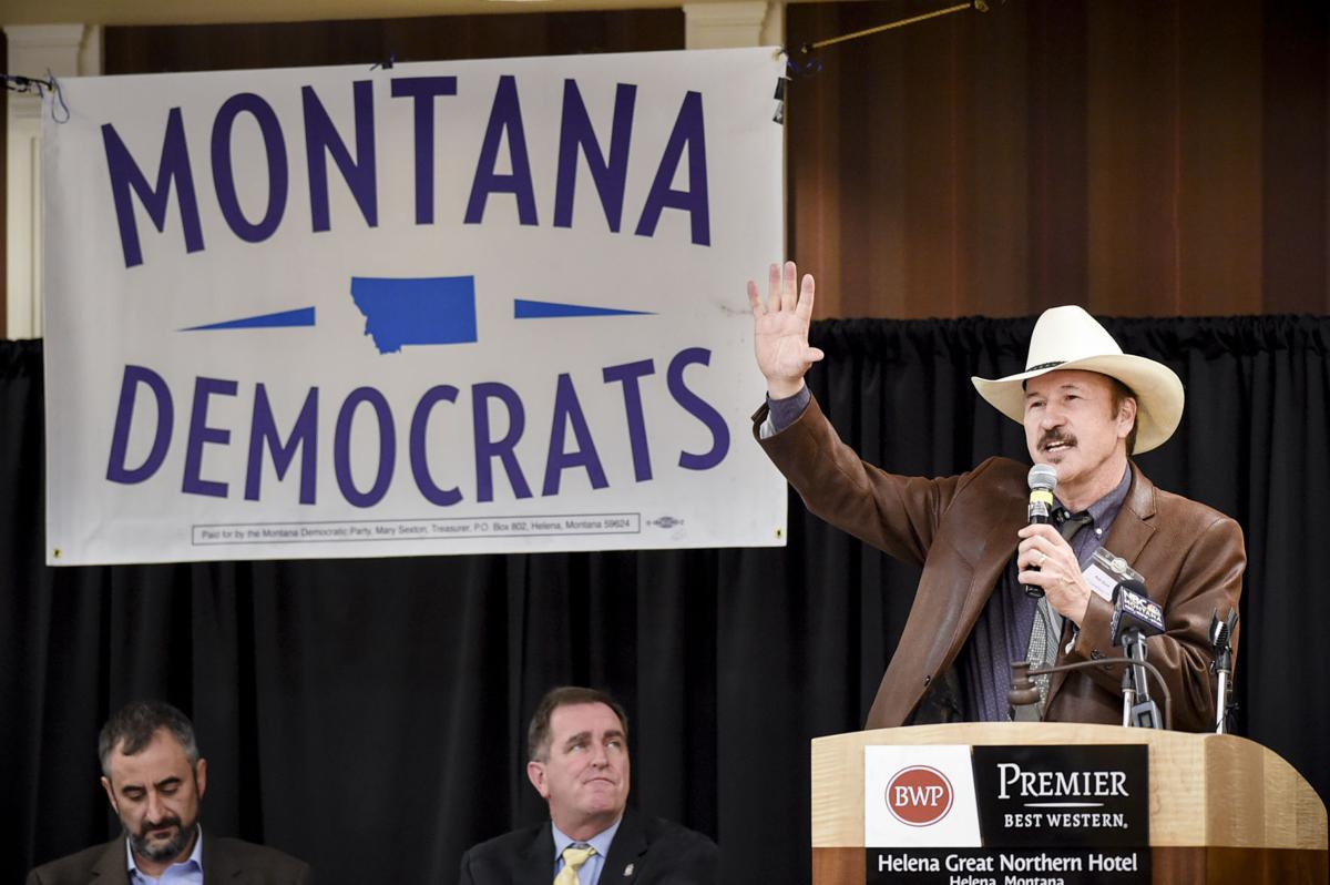 Rob Quist gives his acceptance speech