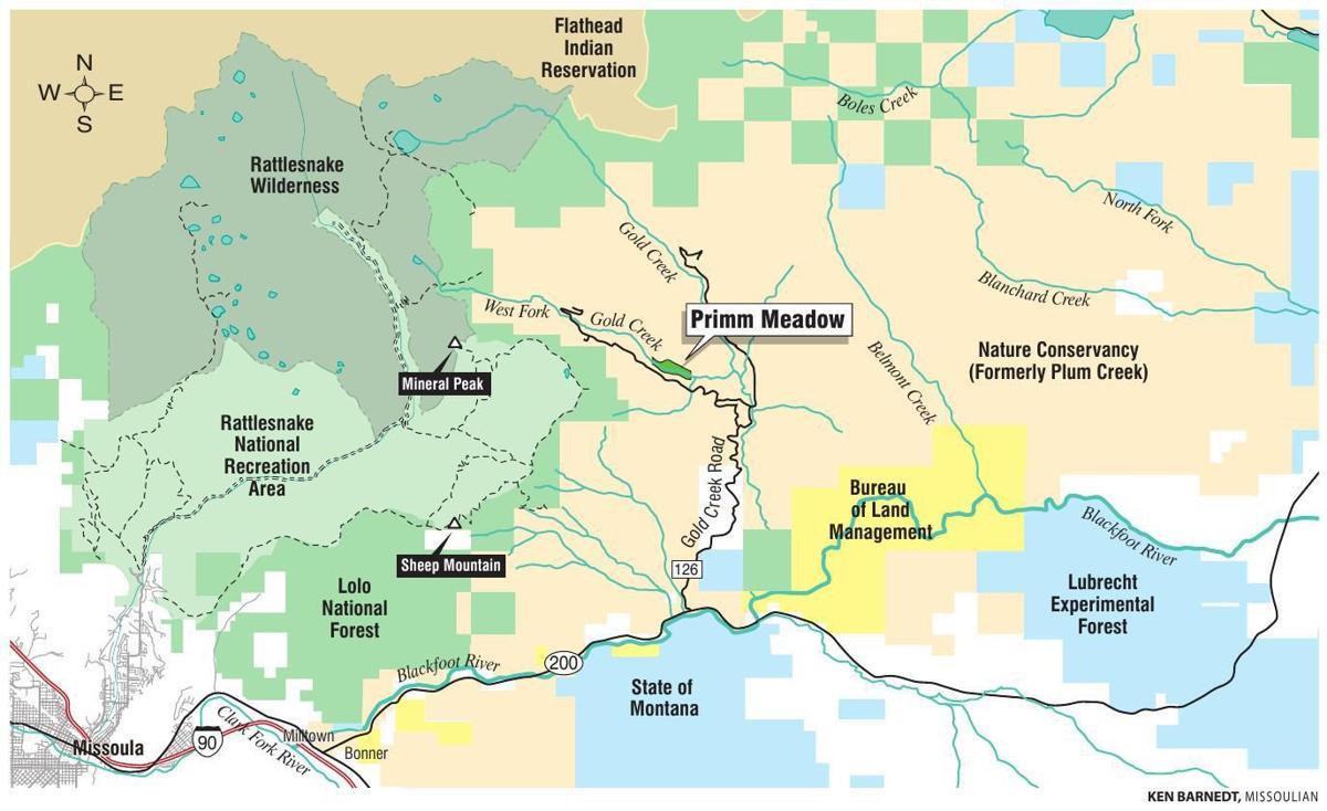 Primm Meadow map