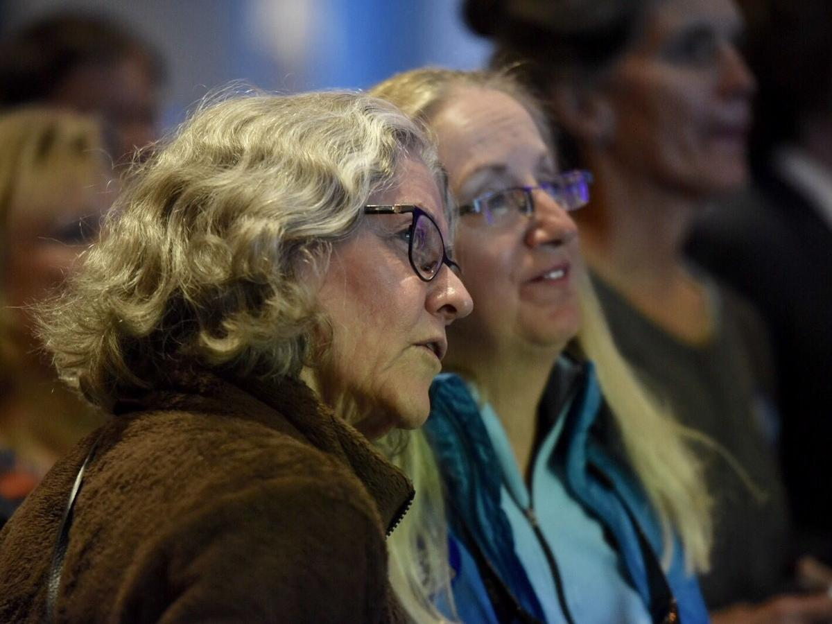 Watching returns at Rob Quist election-night party