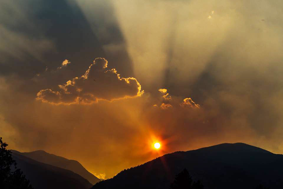 Smoky skies lead to stunning sunsets