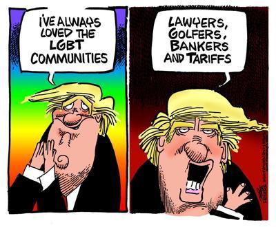 Trump professes love for 'LGBT' communities