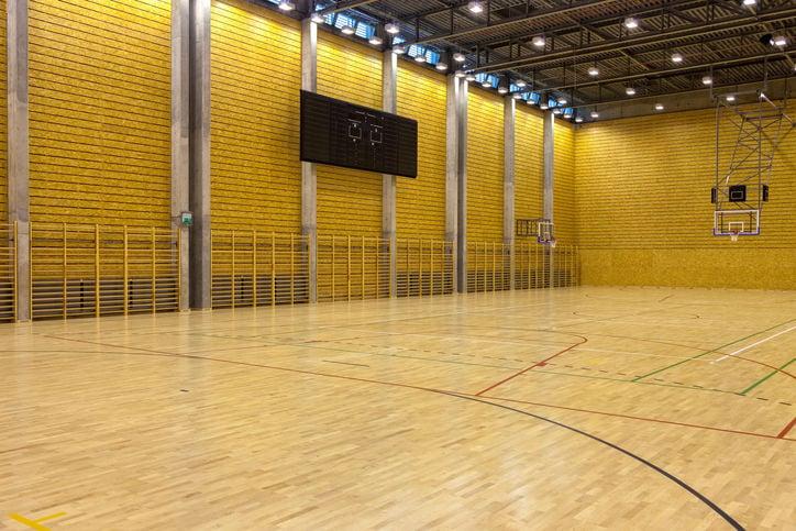 high school gym gymnasium stockimage
