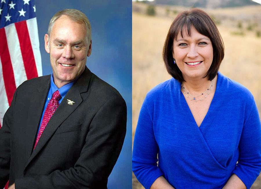 Ryan Zinke and Denise Juneau