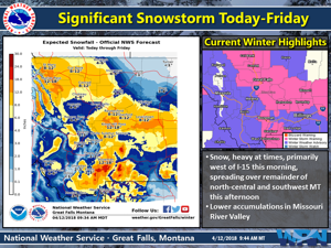 Major spring storm to bring heavy snowfall to parts of Montana