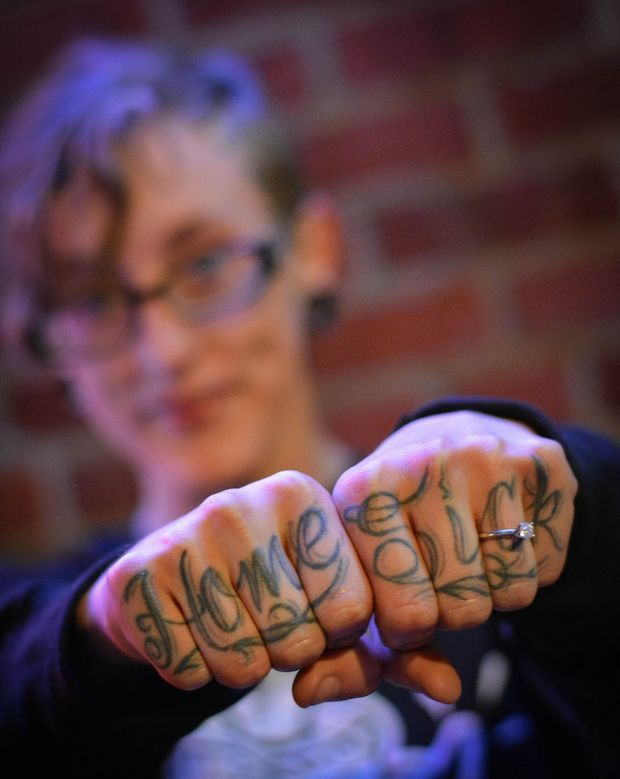 Say It In 8 Knuckle Tattoos Get Personal Evolving Far Past Love