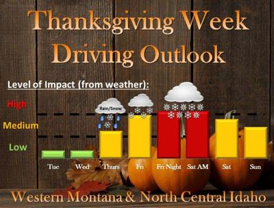 Friday weather advisory