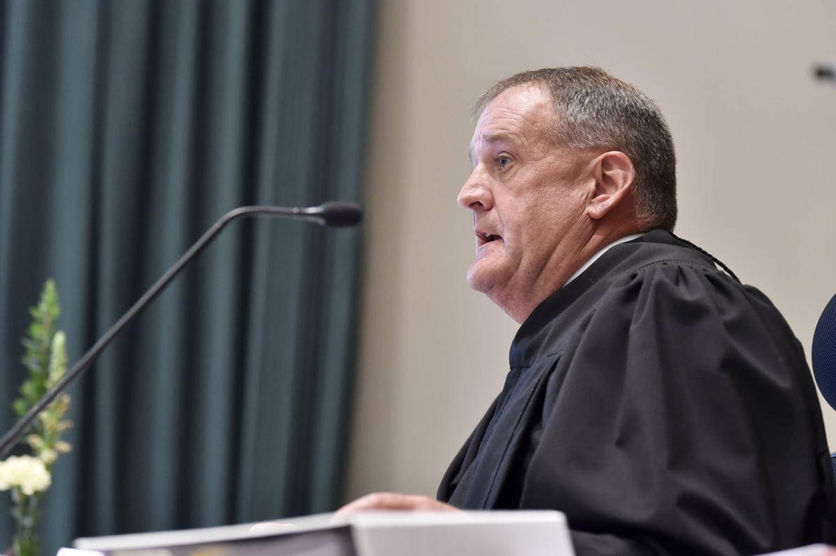 Judge Mike McMahon rules Trude not guilty of the charge of tampering with evidence