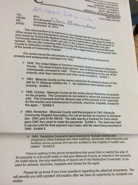 County attorney memo