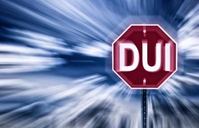 DUI stop sign stockimage