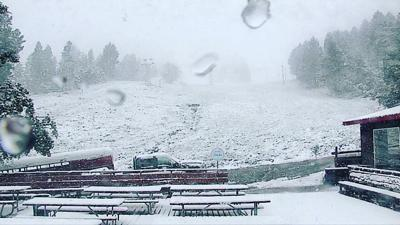 A snowy June morning at Great Divide Ski Area