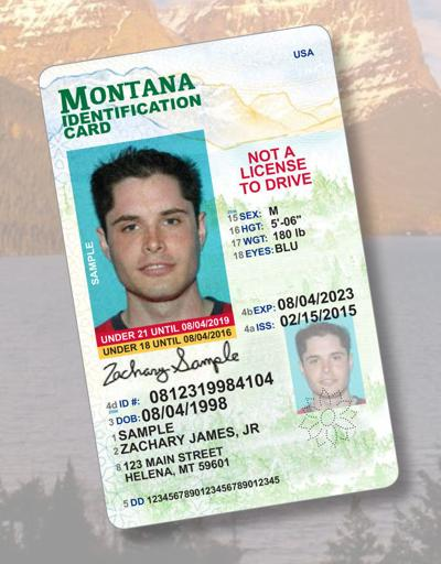 Montana's newly designed driver license
