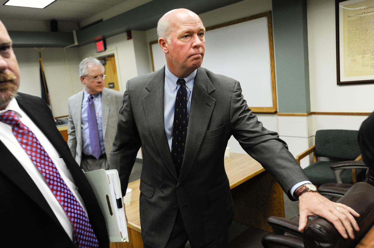 Republican congressman-elect Greg Gianforte exits the courtroom Monday morning