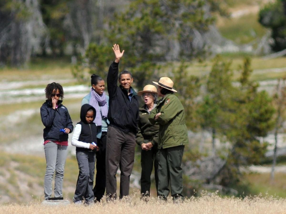 Obama family at Yellowstone