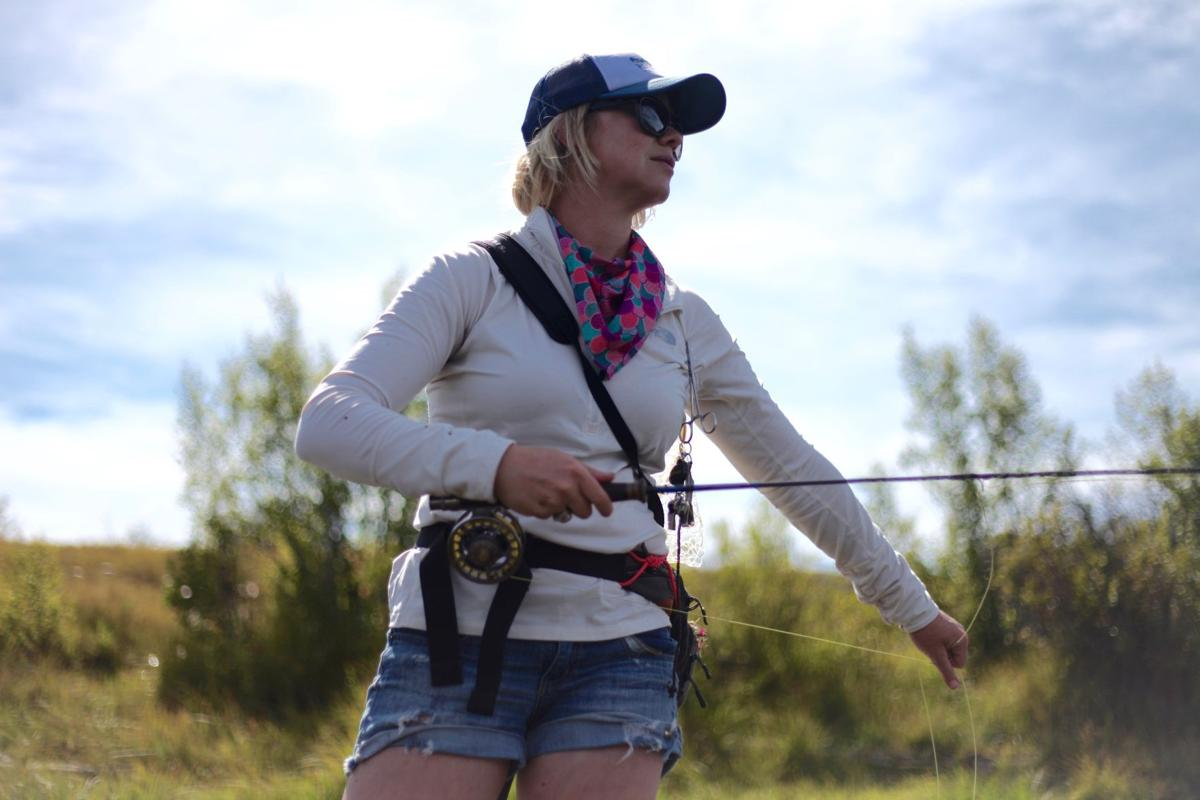 Fly fishing to relax