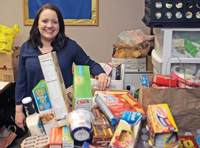 Donations crowd the student pantry