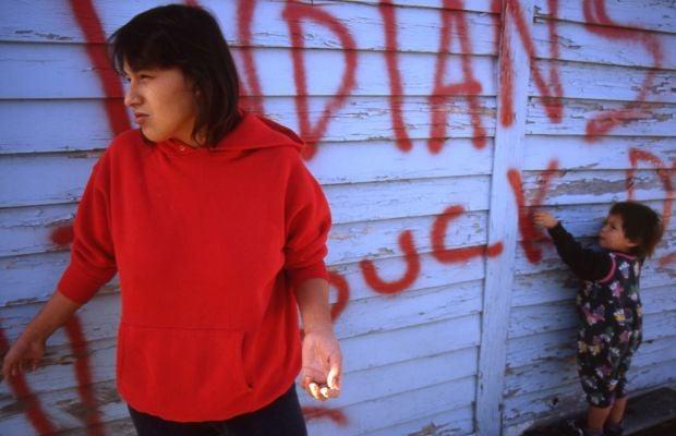 Hate-filled graffiti