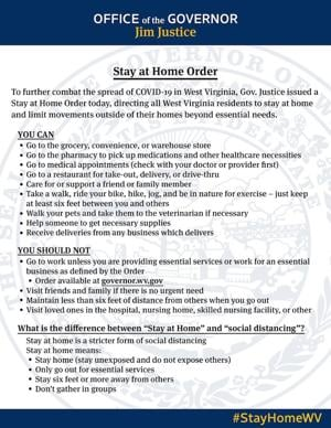 Justice: Stay at home