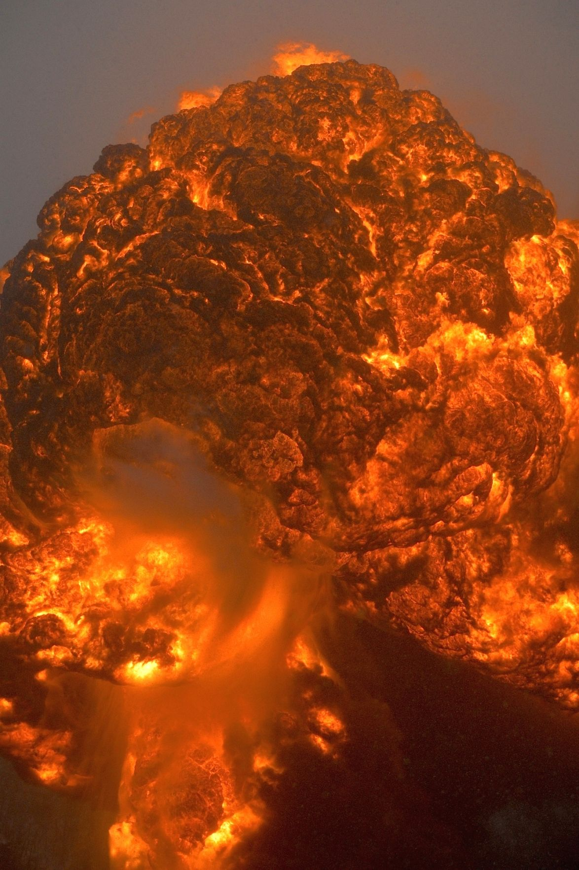 Flames roar into sky
