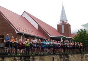 Bike group enjoys stop in Gauley Bridge